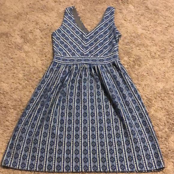 cd06b0fa4a95 Anthropologie Dresses | Aztec Blue Casual Dress | Poshmark